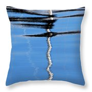Floating On Blue 2 Throw Pillow