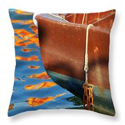 Floating On Blue 11 Throw Pillow