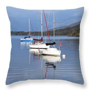 Floating On Blue 13 Throw Pillow