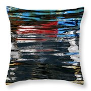 Floating On Blue 19 Throw Pillow