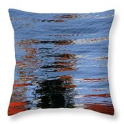 Floating On Blue 16 Throw Pillow