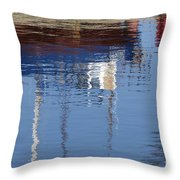 Floating On Blue 21 Throw Pillow