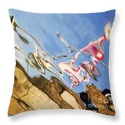 Floating On Blue 29 Throw Pillow