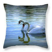 Floating On Glass Throw Pillow by Laurie Perry