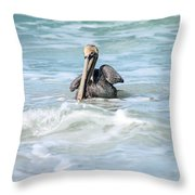 Floating Peacefully Throw Pillow