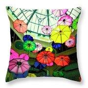 Floating Umbrellas In Las Vegas  Throw Pillow