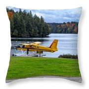 Floatplane In Fall Throw Pillow