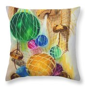 Floats And Nets Throw Pillow