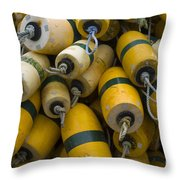 Floats Used In Crab Fishing Throw Pillow