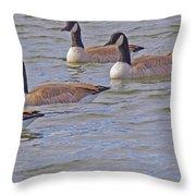 Flock Of Five Throw Pillow