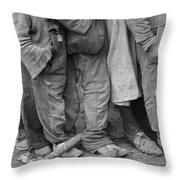 Flood Refugees, 1937 Throw Pillow
