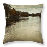 Flood Waters Milwaukee River 2013 Throw Pillow