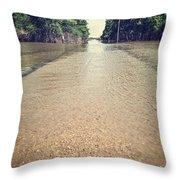 Flooded Road Throw Pillow