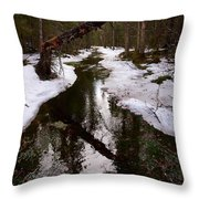 Flooding Forest Throw Pillow
