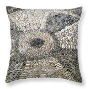 Floor Of Shells Throw Pillow