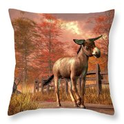 Flop Eared Donkey Throw Pillow