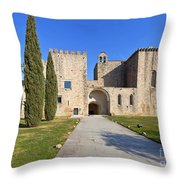 Flor Da Rosa Monastery Throw Pillow