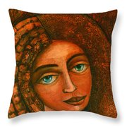 Flora Closer Throw Pillow