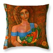 Flora - Goddess Of The Seeds Throw Pillow