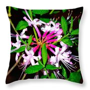 Flora In Pink Throw Pillow