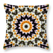 Flora Kaleidoscope Throw Pillow