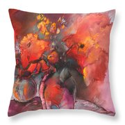 Floral 01 Throw Pillow by Miki De Goodaboom