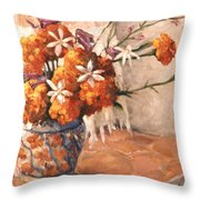 Floral 9 Throw Pillow