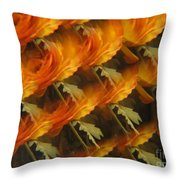 Floral Abstract 2 Throw Pillow
