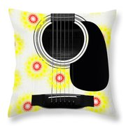 Floral Abstract Guitar 22 Throw Pillow