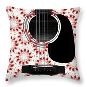 Floral Abstract Guitar 24 Throw Pillow