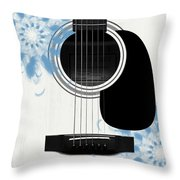 Floral Abstract Guitar 25 Throw Pillow