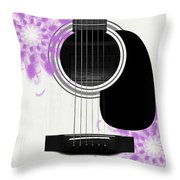Floral Abstract Guitar 26 Throw Pillow