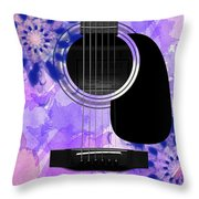 Floral Abstract Guitar 27 Throw Pillow