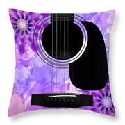 Floral Abstract Guitar 29 Throw Pillow