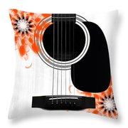 Floral Abstract Guitar 32 Throw Pillow