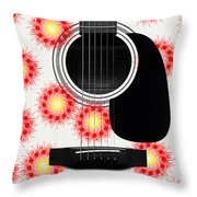 Floral Abstract Guitar 8 Throw Pillow