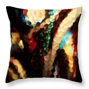 Floral Abstract I Throw Pillow