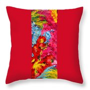 Floral Abstract Part 1 Throw Pillow