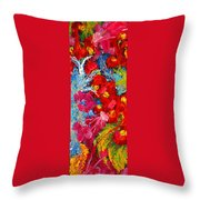 Floral Abstract Part 3 Throw Pillow