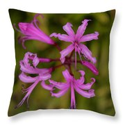 Floral Anemones Throw Pillow