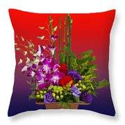 Floral Arrangement Throw Pillow by Chuck Staley