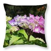 Floral Art Photography Pink Lavender Hydrangeas Throw Pillow