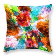 Floral Art Xiii Throw Pillow