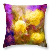 Floral Art Xxxxv Throw Pillow