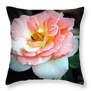 Floral Bee Throw Pillow
