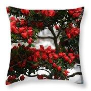 Floral Bonsai Throw Pillow