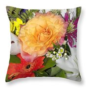 Floral Bouquet 3 Throw Pillow