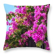 Floral Cascade Throw Pillow