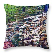 Floral Cathedral Throw Pillow