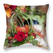 Floral Centerpiece Throw Pillow